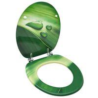 vidaXL zöld vízcseppmintás MDF WC-ülőke fedéllel