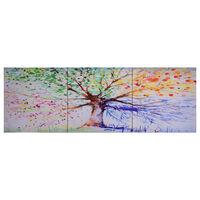 vidaXL többszínű nyomtatott fa vászon falikép szett 120 x 40 cm