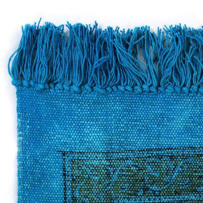 vidaXL türkiz mintás kilim pamutszőnyeg 120 x 180 cm