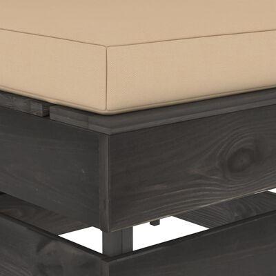 vidaXL szürke impregnált fa elemes középső kanapé párnákkal