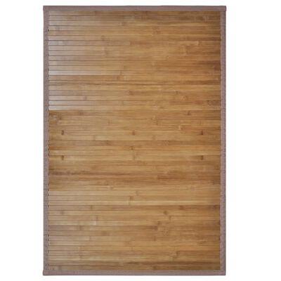 vidaXL 4 db barna bambusz fürdőszobaszőnyeg 60 x 90 cm