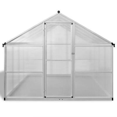 vidaXL megerősített alumínium üvegház alapkerettel 9,025 m2
