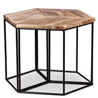 vidaXL tömör mangófa dohányzóasztal 48 x 48 x 40 cm
