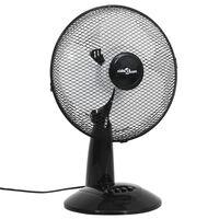 vidaXL 3 sebességes fekete asztali ventilátor 30 cm 40 W