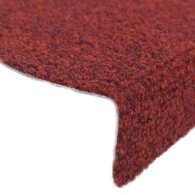 vidaXL 5 db piros tűlyukasztott öntapadó lépcsőszőnyeg 65 x 21 x 4 cm