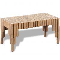 vidaXL bambusz dohányzóasztal
