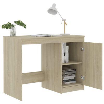 vidaXL sonomatölgy színű forgácslap íróasztal 100 x 50 x 76 cm