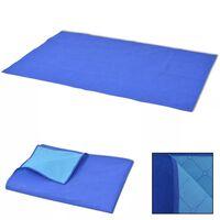 vidaXL 100x150 cm piknik lepedő kék és világoskék