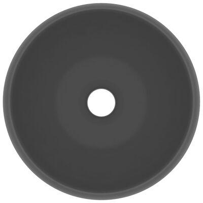 vidaXL kerek matt sötétszürke kerámia luxus mosdókagyló 40 x 15 cm