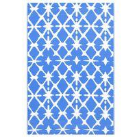 vidaXL kék-fehér PP kültéri szőnyeg 120 x 180 cm