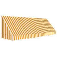 vidaXL narancssárga és fehér bisztró napellenző 400 x 120 cm