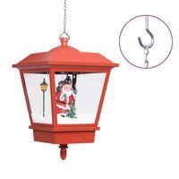 vidaXL piros karácsonyi függőlámpa LED-ekkel és Mikulással 27x27x45 cm
