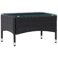 vidaXL fekete polyrattan dohányzóasztal 60 x 40 x 36 cm