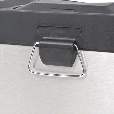 vidaXL rozsdamentes acél lábpedálos szelektív szemeteskuka 54 L