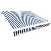 vidaXL kék és fehér napellenző ponyva 450 x 300 cm