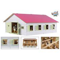 Kids Globe rózsaszínű istálló 7 állással 1:24 méretarányú 610189