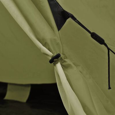 vidaXL 4 személyes zöld sátor