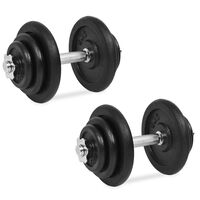 vidaXL 18 részes öntöttvas súlyzókészlet 40 kg