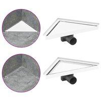 vidaXL rozsdamentes acél 2 az 1-ben zuhanylefolyó fedéllel 25 x 25 cm