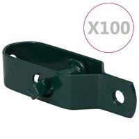 vidaXL 100 darab zöld acél huzalfeszítő kerítéshez 100 mm