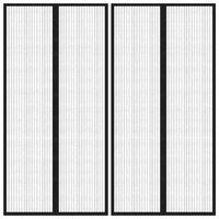 vidaXL 2 darab fekete rovarfüggöny mágneses blokkokkal 220 x 100 cm
