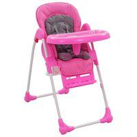 vidaXL rózsaszín és szürke babaetetőszék
