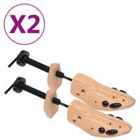 vidaXL tömör fenyőfa sámfa 2 pár cipőhöz 36-40-es méret