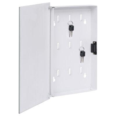 vidaXL fehér kulcsszekrény mágneses lappal 30 x 20 x 5,5 cm