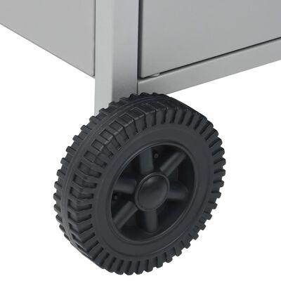 vidaXL ezüst gázgrillsütő 4+1 főzőfelülettel