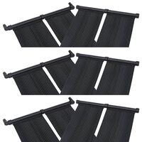 vidaXL 6 db napelemes medencefűtő panel 80 x 310 cm