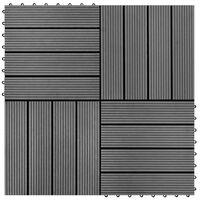 Szürke 11 db 30 x 30 cm-es padló csempe WPC 1 m²