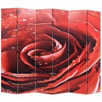 vidaXL piros rózsa mintás paraván 228 x 170 cm