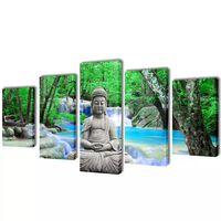 Nyomtatott vászon falikép szett Buddha 200 x 100 cm