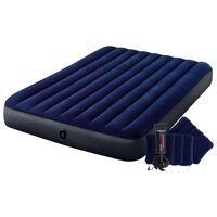 Intex Dura-Beam kék felfújható gumimatrac pumpával 152 x 203 x 25 cm