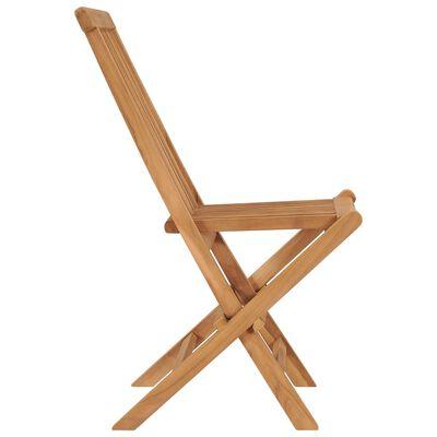 vidaXL 4 db összecsukható tömör tíkfa kerti szék