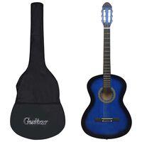 """vidaXL 12 darabos kék klasszikus gitár kezdőkészlet 4/4 39"""""""