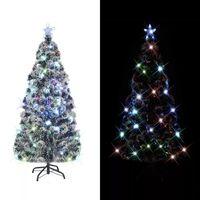 vidaXL optikai szálas műkarácsonyfa talppal/LED fénnyel 180 cm
