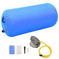 vidaXL kék PVC felfújható tornahenger pumpával 120 x 75 cm