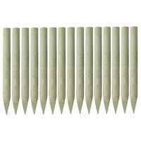 vidaXL 15 db hegyes impregnált fenyőfa kerítésoszlop 4 x 100 cm