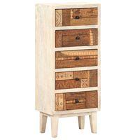 vidaXL tömör újrahasznosított fa fiókos szekrény 45 x 30 x 105 cm
