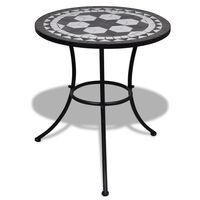 vidaXL fekete és fehér mozaik bisztró asztal 60 cm