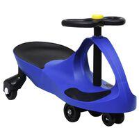 vidaXL kék ráülős játék forgóautó kürttel
