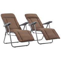 vidaXL 2 db barna összecsukható kerti szék párnával