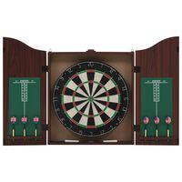 vidaXL szizálból készült profi darts tábla szekrénnyel és 6 nyíllal