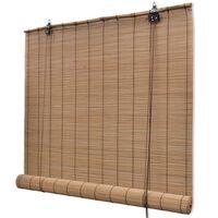 vidaXL barna bambuszroló 80 x 220 cm