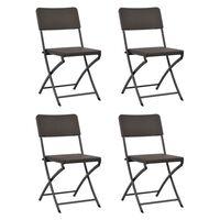 vidaXL 4 db barna összecsukható acél és HDPE kerti szék