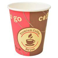 vidaXL 1000 db eldobható papír kávés pohár 240 ml (8 uncia)