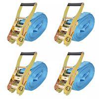 vidaXL 4 db kék racsnis spanifer, 4 tonna 8 m x 50 mm