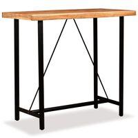 vidaXL tömör akácfa bárasztal 120 x 60 x 107 cm