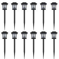 Napelemes LED kültéri lámpa Szett 6 db Cövek 8,6 x 8,6 x 38 cm